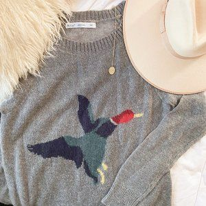 Woolrich Grey Duck Crewneck Sweater